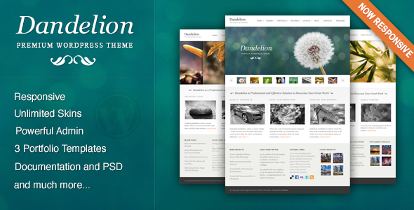 Dandelion powerful elegant wordpress theme by pexeto themeforest pronofoot35fo Image collections