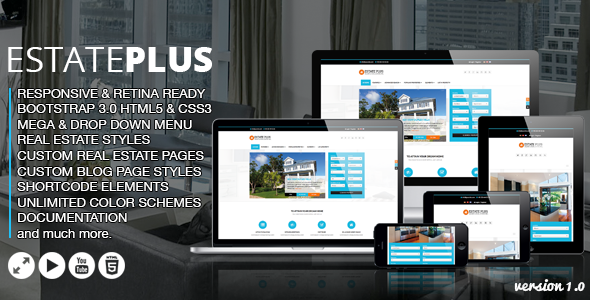 Estate Plus - Real Estate HTML5 Website Template by designingmedia