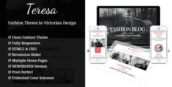 Teresa A One And Multi Page Fashion Theme By Gljivec