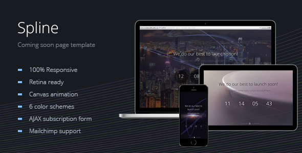 Spline Animated Coming Soon Page Template By Slid ThemeForest - Launch page template