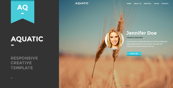 Aquatic - Responsive Creative One Page Template by Aisconverse ...