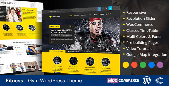 Fitness WordPress Theme eCommerce by CoralixThemes | ThemeForest