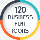 120 Business Flat Icons -Graphicriver中文最全的素材分享平台
