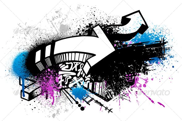 graffiti art backgrounds. Vector+graffiti