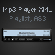 Mp3 player with playlist xml