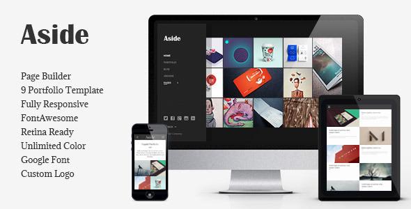 Aside Photo Portfolio Sidebar WordPress Theme By Bwsm ThemeForest - Wordpress portfolio template