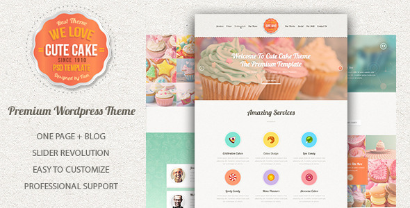 Cute cake responsive one page wordpress theme by highthemes cute cake responsive one page wordpress theme food retail forumfinder Image collections