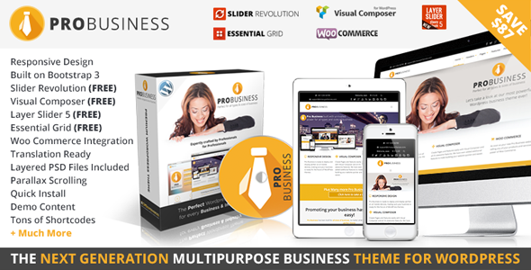 PRO Business - Responsive Multi-Purpose Theme by CMSSuperHeroes ...