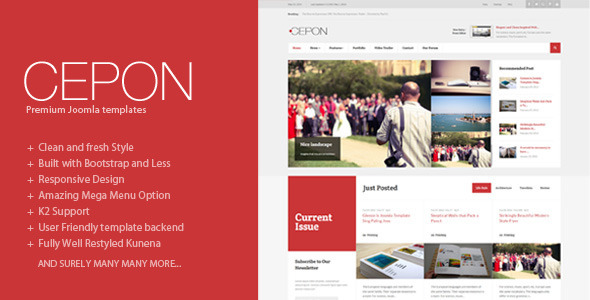 Cepon News and Magazine Joomla Templates by themesonic ThemeForest