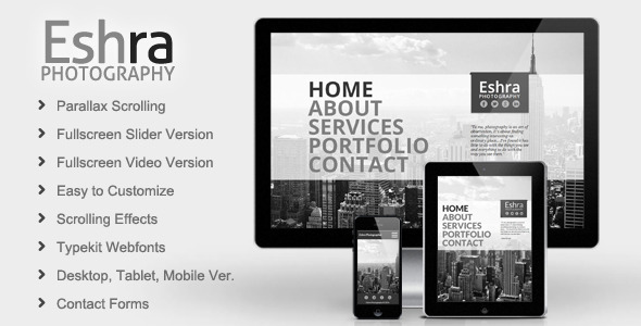 Eshra photography muse template by mejora themeforest eshra photography muse template personal muse templates pronofoot35fo Images