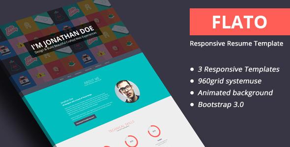 Flato responsive resume joomla template by themeelite themeforest yelopaper Choice Image