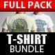 T-Shirt Mock Up Bundle-Graphicriver中文最全的素材分享平台