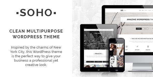 Soho - Clean Multi-Purpose WordPress Theme by Select-Themes ...