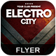Electro City Flyer-Graphicriver中文最全的素材分享平台