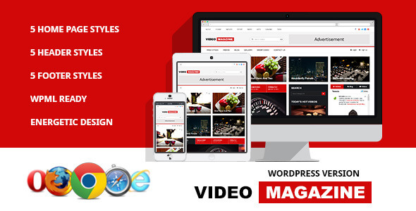 Video Magazine - WordPress Magazine Theme by softcircles | ThemeForest