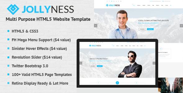 Jollyness - Multi Purpose HTML5 Website Template by JollyThemes ...