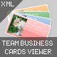 XML Team Business Cards viewer