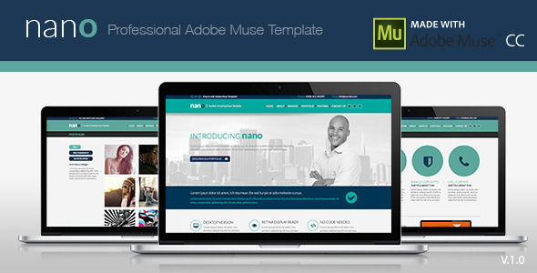 Nano adobe muse template by zacomic themeforest for Adobe muse mobile templates