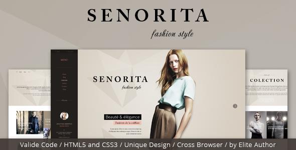 Senorita Responsive HTML Template by CRIK0VA | ThemeForest