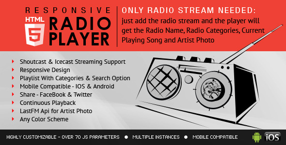 Nulled] SHOUT - HTML5 Radio Player With Ads - ShoutCast And