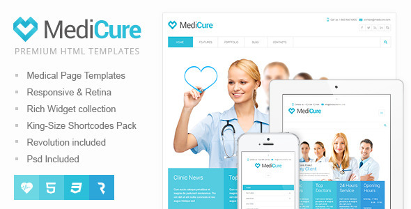 MediCure Health Medical HTML Template By Cmsmasters ThemeForest - Medical website templates