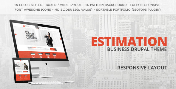 Estimation responsive drupal theme by ddamir themeforest estimation responsive drupal theme business corporate cheaphphosting Choice Image
