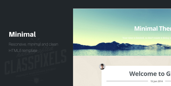minimal responsive html5 blog template by classpixels themeforest