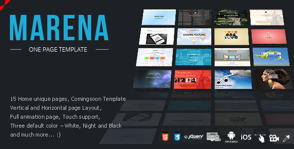 Marena - One Page Vertical / Horizontal Template by FMedia ...
