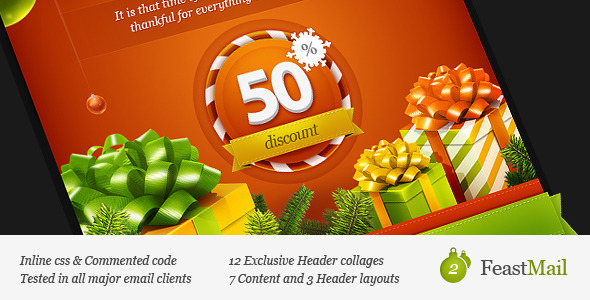 FeastMail 2 - Christmas Email Template by olegnax | ThemeForest
