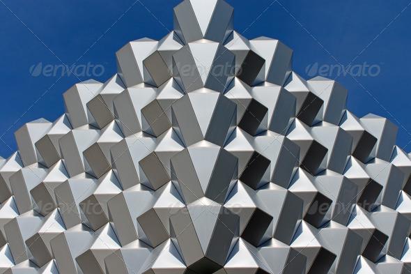 Futuristic facade - Stock Photo - Images