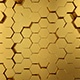 Gold Hexagon Vj Loops - VideoHive Item for Sale