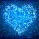 Blue Plexus Valentine's Day Heart Background  - VideoHive Item for Sale