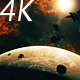 Flying Through Asteroids with Big Planet to Space Nebula and Star - VideoHive Item for Sale