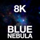 8K Flying Into Blue Nebula - VideoHive Item for Sale