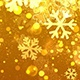 Christmas Gold Snowflake Background with Glitter Particles  - VideoHive Item for Sale