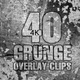 40 Grunge Overlay Clips Pack 4K - VideoHive Item for Sale