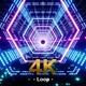 Futuristic Digital Hexagon Neon Escalator Loop 4K - VideoHive Item for Sale