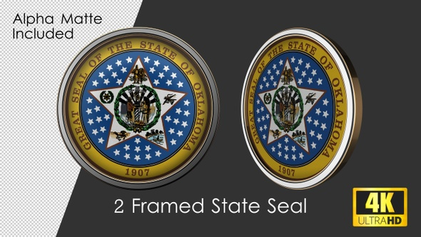 Framed Seal Of Oklahoma State By Rouge Trader Videohive