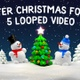 Winter Christmas Forest And Snowman - VideoHive Item for Sale