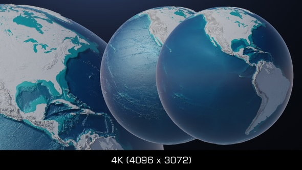 Cyber Earth Globe Hologram - 2