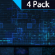 Sci Fi Technology Background 4 Pack - VideoHive Item for Sale