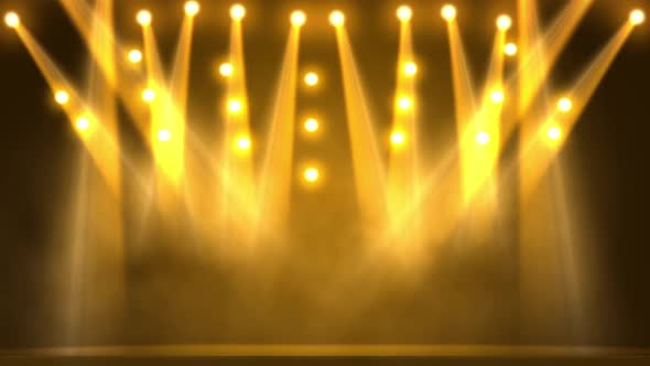 yellow stage lights by thehivestudio