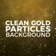 Clean Gold Particles Background - VideoHive Item for Sale