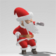 Santa Claus Dancing With Alpha Channel Seamless Loop - VideoHive Item for Sale