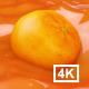 Orange Floating In Juice 4K - VideoHive Item for Sale