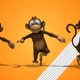 Monkey On Unicycle (3-Pack) - VideoHive Item for Sale