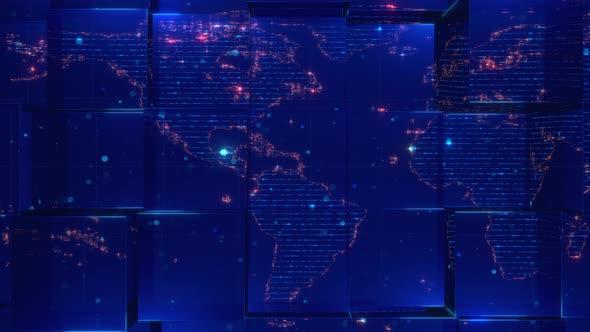 Elegant Glass World Map Background 4k By Walterlee Videohive