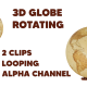 3D Globe Rotating - VideoHive Item for Sale
