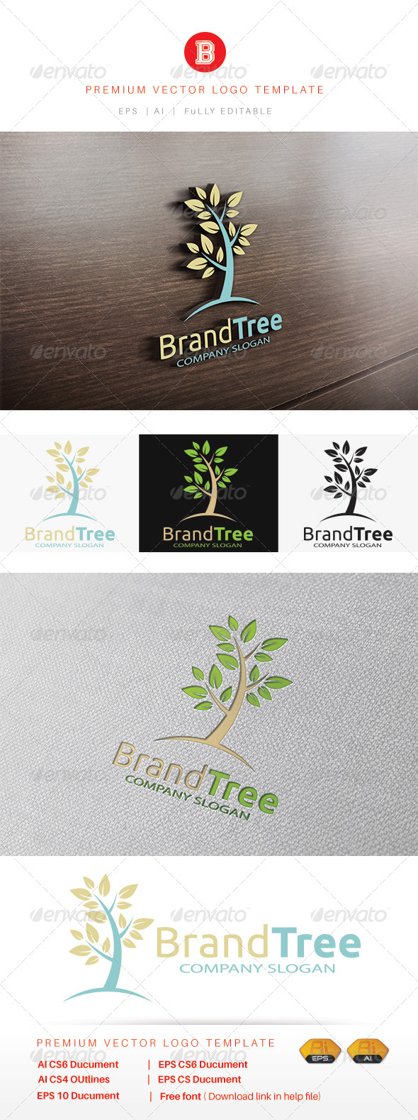 Brand Tree - Nature Logo Templates