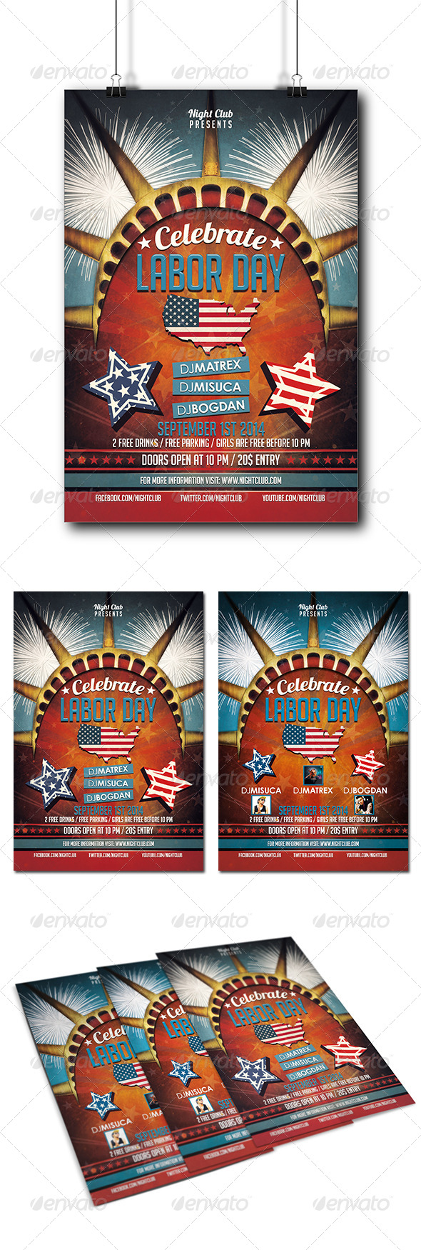 Labor Day Party Flyer - Clubs & Parties Events